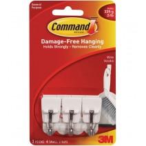 Ganchos Command 3M chicos x3 (Punta metal)