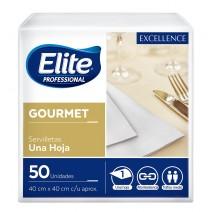 Servilleta Elite gourmet blanca 40x40 12x50u