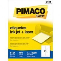 Etiqueta Pimaco 6181 caja 100hjs.