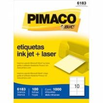 Etiqueta Pimaco 6183 caja 100hjs.