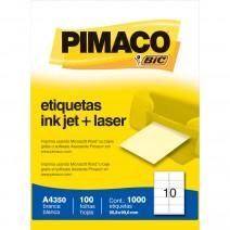 Etiqueta Pimaco A4350 caja 100hjs.