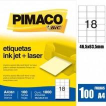 Etiqueta Pimaco A4361 caja 100hjs.