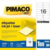 Etiqueta Pimaco A4362 caja 100hjs.