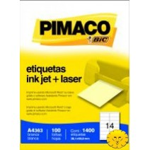 Etiqueta Pimaco A4363 caja 100hjs.