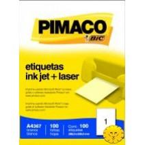 Etiqueta Pimaco A4367 caja 100hjs.