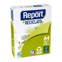 Report A4 75 grs. Reciclato Paq 500 hjs.