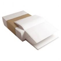 Papel Fanfold 25 x 12 liso con desborde