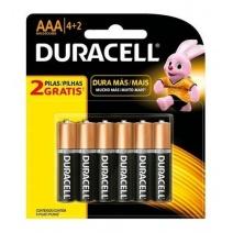 Pila AAA Duracell alcalina 4+2