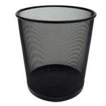 Papelera Metal Calado Negro redonda grande