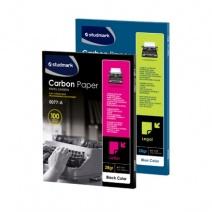 Papel carbónico oficio caja x 100 Studmark - negro