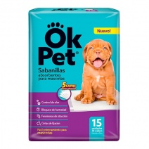 Sabanilla OK Pet 6 paq. x15 uni.