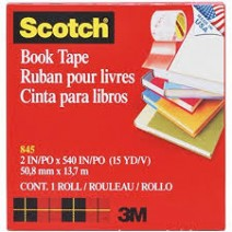 Cinta 3M book tape N° 845 50mm x 13mts