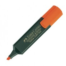 Marcador flúo Faber - anaranjado