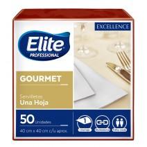 Servilleta Elite gourmet bordeaux 40x40 12x50u