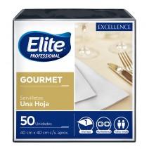 Servilleta Elite gourmet negra 40x40 12x50u